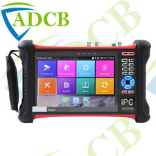 "7"" 4K CCTV IP Tester Camera Monitor HDMI TVI AHD Camera PTZ POE SD Card"