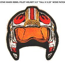 "Star Wars Rebel Pilot Helmet 3.25"" Embroidered Patch- FREE S&H US SELLER"