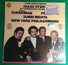 Isaac Stern 60th Anniversary Celebration LP Zuckerman Perlman Mehta CBS 1981