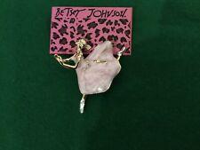 Finish Ballerina Brooch, So Pretty! Nwt Betsey Johnson Pink Marble