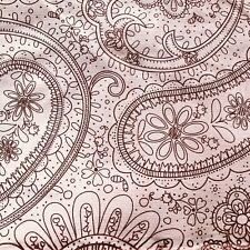 Pink Paisley stretch floral corduroy Fabric Baby Wale Velvety Modern 2.75 Yards