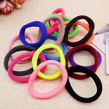 50PCS lowest price Girl Elastic Hair Ties Band Rope Ponytail Bracelet Ring Lot D