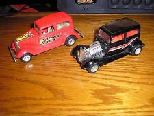 Lot of 2 Vintage 1/32 Majorette 1930's Ford Sedan Vickys with Pull Back Action