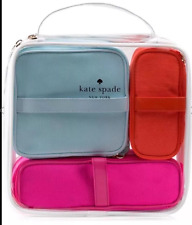 KATE SPADE NEW YORK COSMETIC BAG COLLECTION SET OF 4 - TRAVEL TOILETRY BAG