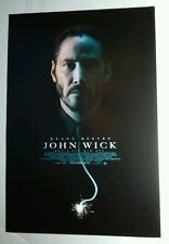 JOHN WICK KEANU REEVES FACE FUSE TIE 13.5x20 MOVIE POSTER
