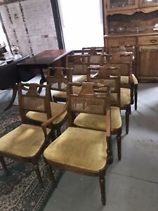 8 Mid Century Modern C.1970s Signed Stickley Fayetteville Cherry Dining Chairs