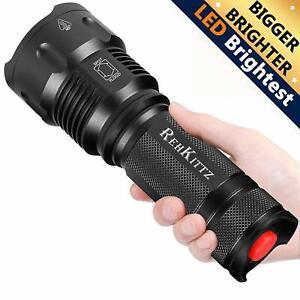 Linterna LED Alta Potencia Militar T6 de Enfoque Ajustable Impermeable  Táctica