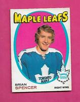 1971-72 OPC # 198 LEAFS BRIAN SPENCER ROOKIE EX CARD  (INV# D1862)