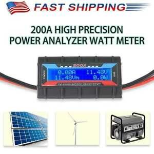 RC Watt Meter High Precision 200A LCD Power Amp Volt Tester Analyzer Monitor