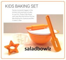 TUPPERWARE New KIDS MY FIRST MINI BAKING SET 5 pc Learn Play Mix Bake Tupperkids