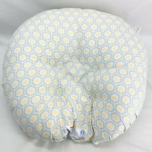 Boppy Newborn Lounger Gray, White, Yellow Geometric Pattern Birth To 4 Months