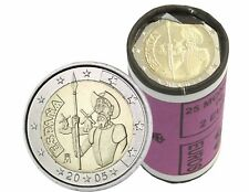 25 x Spanien 2 Euro 2005 Don Quixote von La Mancha Bankfrisch in Rolle