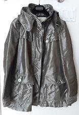 Authentic Burberry Women A-line Mid Length Gunmetal Trench Coat US sz 8/42