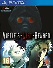 PS Vita Zero Escape - Virtue's Virtues Last Reward Spiel für Playstation PSV NEU