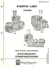 Chicago Pneumatic Vintage Type Pb Pm Pe Station Compressors Parts Manual 1969