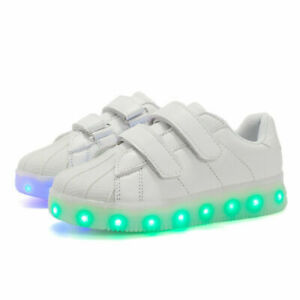 Toddler Kids Boys Girls Light Up Flashing LED Trainers Running Shoes Comfortable