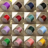 0.8mm Nylon Cord Thread Chinese Knot Macrame Rattail Bracelet Braided String CHH