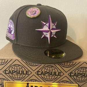 Capsule Hats Exclusive Seattle Mariners No Bad Brims New Era Fitted SZ 7 1/8