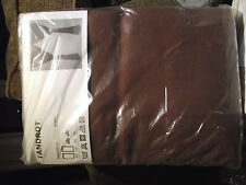 *Ikea TANDROT Pair Of Curtains 145 x 165cm W/ Tie Backs - Brown 202.535.86