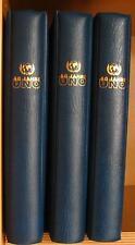s0128) 50 Jahre UNO 445 ** + Marken + 75 ** Blocks + 35 Belege in 3 Ringbindern