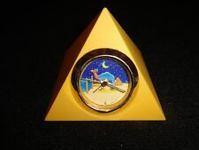 Vintage Smokin Joe Camel Cigarette Pyramid Clock  R J Reynolds 1993 WORKS
