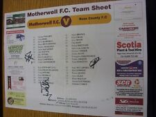 22/03/2014 Autographed Colour Teamsheet: Motherwell v Ross County - Signed by 2