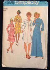 7238 Simplicity Misses' Robes Size 12 ~ Vintage Uncut Sewing Pattern 1975