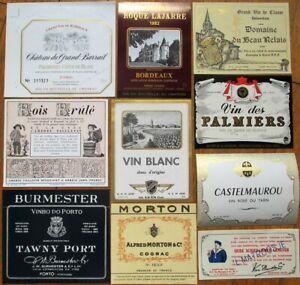 Vintage Wine & Liquor Bottle Labels 50 DIFFERENT 1920s-80s- GROUP 4 - Rum/Cognac