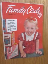 FEBRUARY 1953 FAMILY CIRCLE MAGAZINE GREAT STYLES & ADVERTISING MID CENTURY