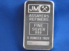 Johnson Matthey .999 Silver 5 Oz Struck Ingot B4318