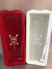 6 PK - 5 lb FireTech Fire Extinguisher Cabinets -Indoor/Outdoor White Ships Free
