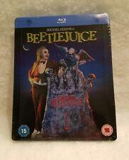 Beetlejuice STEELBOOK Blu Ray U.K. Long Sold Out Sealed Region Free Embossed