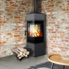 THOR8  Modern Free Standing Corner Contemporary Stove Wood Burner Log Burner