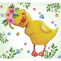 Diamond Painting Kit Dotz 5D 2D Gem DAISY 28 x 30cm Yellow Duckling Easter