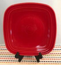 Fiestaware Scarlet Square Dinner Plate Fiesta Red Dinner Plate