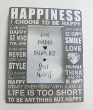 "Don't Worry Be Happy Photo Frame 5.5"" x 3.5"" Birthday Christmas Party Xmas Gift"