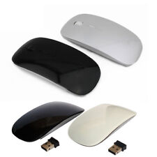 Nero o MOUSE ULTRA SOTTILE Bianco PER NOTEBOCK TABLET PC COMPUTER WIFI WIRELESSx
