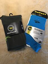 New DeFeet Slipstream Shoe Cover: Small / Medium Ocean Blue And Olive Drab