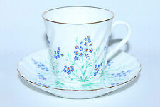 Russian Imperial Lomonosov Porcelain bone Tea cup and saucer at a Stream Gold