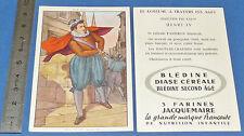 CHROMO 1950 GRANDE IMAGE BON-POINT BLEDINE COSTUME MASCULIN HENRI IV FIN XVIe