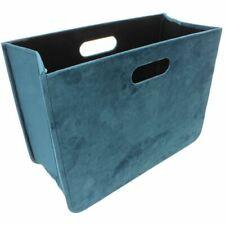 Zeitschriftenhalter mit Samtoberfläche faltbar 40 x 30 x 17 cm petrolblau