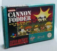 Cannon Fodder - Super Nintendo SNES Game - Complete