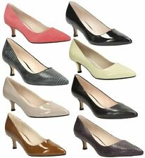 Clarks Leather Court Slim Heel Shoes for Women