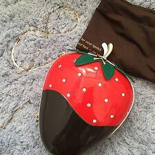 Kate Spade Creme De La Creme Dipped Strawberry Clutch Bag