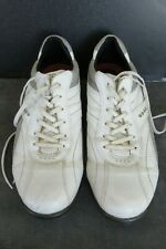 Ecco Men's Golf Shoes Size 11 - 11.5 White Grey Leather Soft Spikes Euro 45