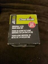CHAR-BROIL UNIVERSAL 1/4 INCH BRASS LP CYLINDER COUPLING NUT #5438384