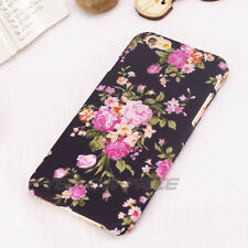 New iPhone 6 6S Plus Case for Girl Fashion Vintage Flower 3D Pattern Matte Cover