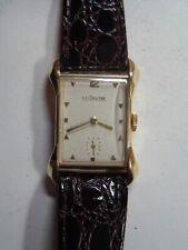 Vintage 14k Gold LeCoultre Fancy Lug Tank Watch, 1940's