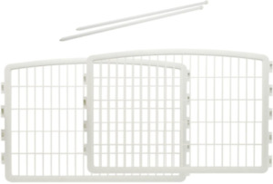 24'' Pet Playpen 2 Panel Add-On Puppies Playing Playpen Cage Crate Fence White
