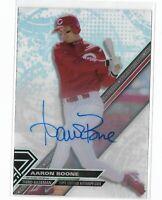 2017 Topps High Tek Baseball Autograph Aaron Boone Cincinnati Reds SP